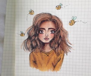 art, artsy, and bee image