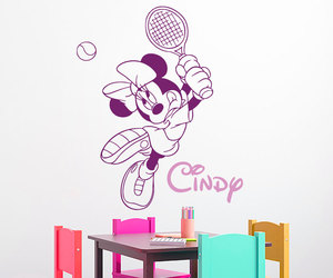 home decor, mouse wall decals, and custom girl image