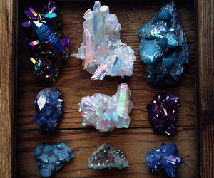 crystal, blue, and minerals image