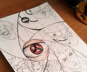 art, shippuden, and uchiha image