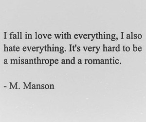 quotes, Marilyn Manson, and love image