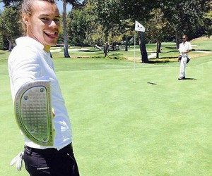 Harry Styles, one direction, and golf image