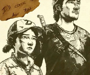 clementine, image, and the walking dead image