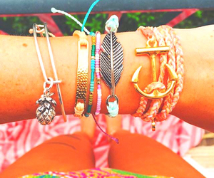 anchor, bright, and feather image
