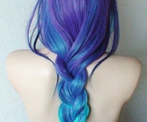 blue, purple, and dye image