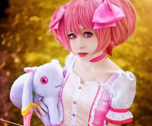 anime, cosplay, and pink image