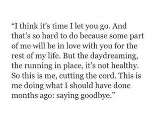 love, quotes, and goodbye image