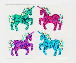 unicorn, glitter, and cute image