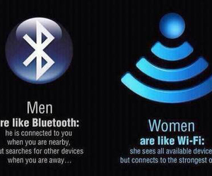 woman, men, and bluetooth image