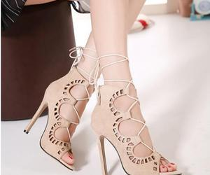 open toe, spikes, and spike heels image
