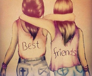 best friends, two, and draw image