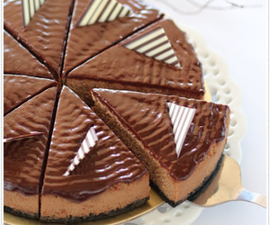 cheesecake, desserts, and chocolate image