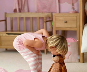bear, pink, and baby image