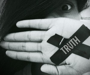 black n white, eyes, and truth image