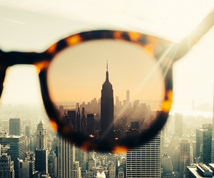 sunglasses, city, and new york image