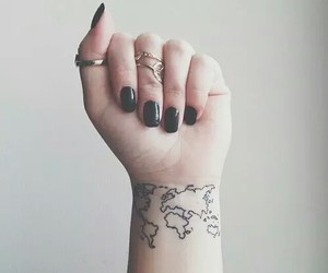 tattoo, world, and black image