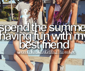 best friends, summer, and fun image