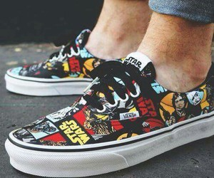 vans, star wars, and shoes image