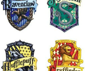 slytherin, gryffindor, and hogwarts image