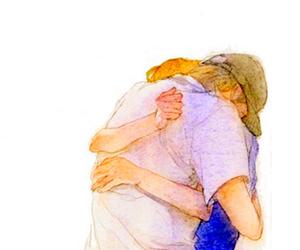 casal, desenho, and couple image