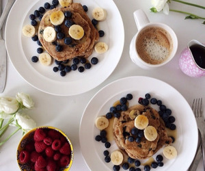 fruit, pancakes, and food image