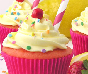 colorful, cupcakes, and food image