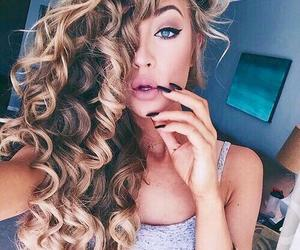 curly, funny, and girl image