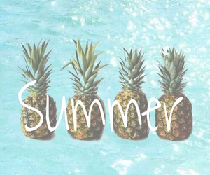 summer, pineapple, and water image