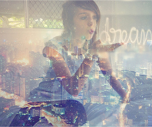girl, Dream, and city image