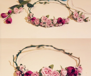 flowers, diy, and flower crown image