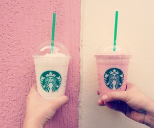 milkshake, pink, and starbucks image