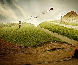 book and kite image
