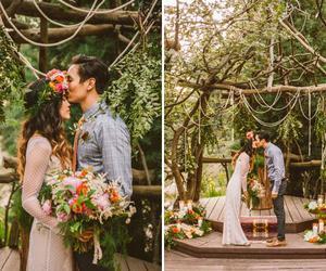 beauty, boho, and bride image
