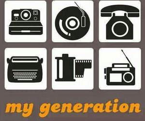 boombox, eighties, and film image