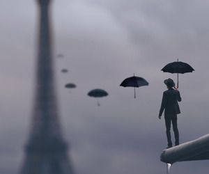paris, umbrella, and art image