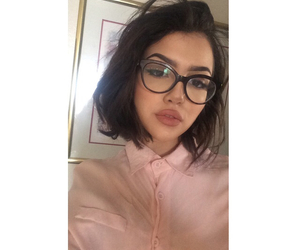 girl, glasses, and icon image