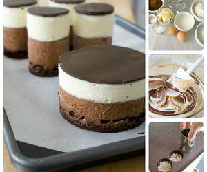 cheesecake, chocolate, and cooking image