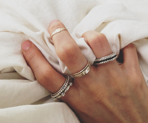 rings, hand, and jewelry image