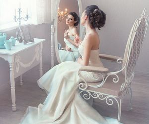 beautiful, bridal, and fashion image
