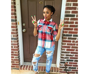 braids, gorgeous, and ripped jeans image