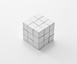 white, aesthetic, and cube image