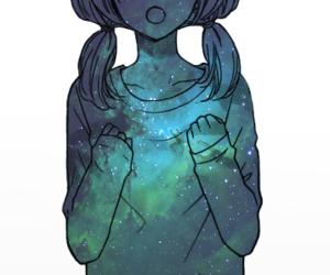 anime, galaxy, and girl image