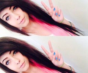 alt girl, pink hair, and pastel goth image