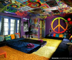 awesome, bedroom, and colorful image
