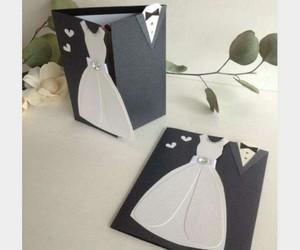 card, wedding, and wedding card image
