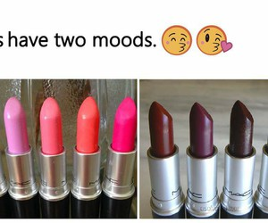 girl, lipstick, and mood image