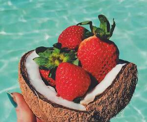 strawberry, summer, and fruit image