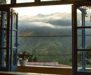 nature, window, and mountains image