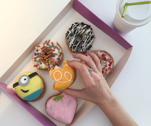donut, icing, and minions image