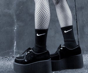 black, nike, and creepers image